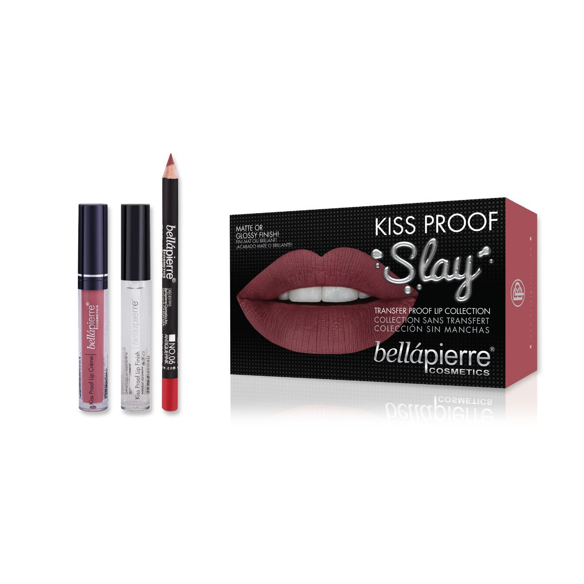 Bellapierre Kiss Proof Slay Lip Kit - Antique Pink