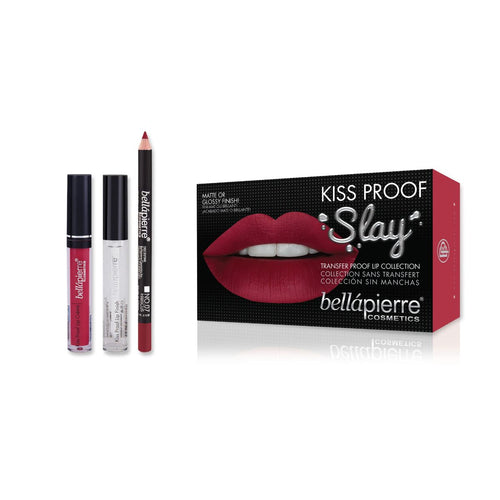 Bellapierre Kiss Proof Slay Lip Kit - Hibiscus