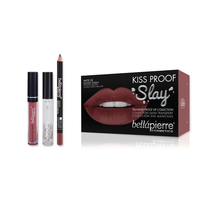 Bellapierre Kiss Proof Slay Lip Kit - Muddy Rose