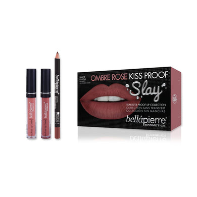 Bellapierre Ombre Kiss Proof Slay Kit - Ombre Rose