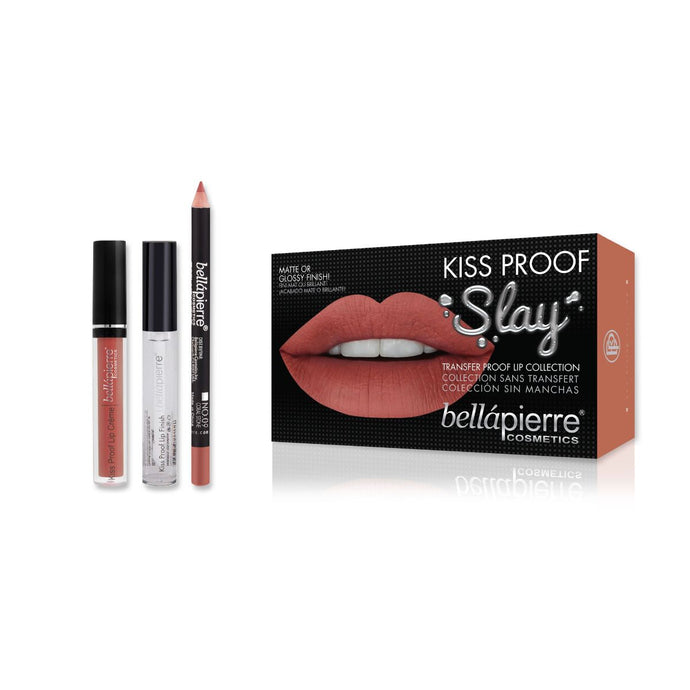 Bellapierre Kiss Proof Slay Lip Kit - Coral Stone