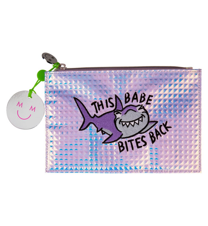 My Mood This Babe Bites Make Up Bag