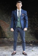Load image into Gallery viewer, MR GUILD Limited Edition DARK BLUE Blazer & Waistcoat