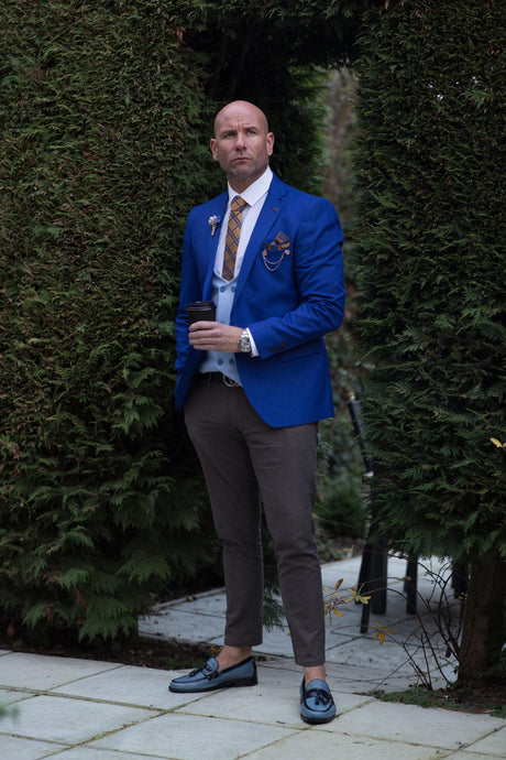 GUILD Limited Edition ROYAL BLUE  Blazer & Waistcoat