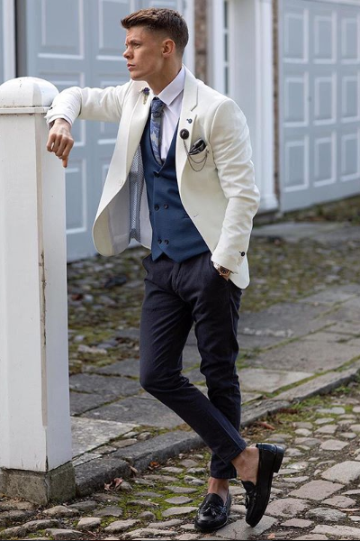 MR GUILD Limited Edition OFF WHITE Blazer & Waistcoat