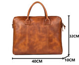 MANTIME TWENTY FIRST GENERATION HAND POLISHED TANNED LEATHER HANDBAG