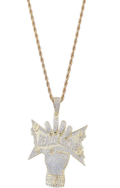 SKUX DORA REALLY RICHE GOLD PLATED ZIRCON CHAIN NECKLACE - boopdo