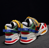 EAF EXCLUSIVE CHUBBY CHUNKY PLATFORM UNISEX SNEAKER IN MULTI COLOR - boopdo