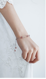 SILVER OF LIFE 925 STRAWBERRY CRYSTAL SILVER BRACELET