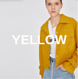 TOYOUTH TRUCKER JACKET IN BRIGHT YELLOW - boopdo