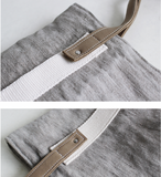 BOOPDO DESIGN CANVAS TOTE BAG IN GREY - boopdo