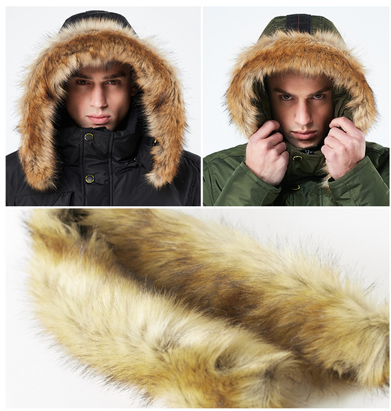 TWEEZER JAXK PARKA WINDPROOF MULTI POCKET FAUX FUR HOODIE COATS