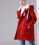 TOYOUTH RED MAROON EXCLUSIVE PARKA COAT 8740822801 - boopdo