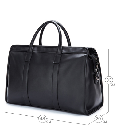 DANDE KENZA TRAVEL HANDBAG IN BLACK - boopdo