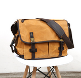 GFAVOR CANVAS LEATHER RETRO ART BASIC DESIGN SHOULDER BAG - boopdo
