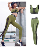 MIP ACTIVE MESH PANEL SIDE KNIT LEGGINGS WITH MESH PANEL BRA