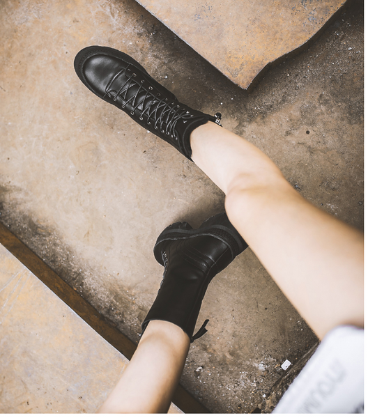 FXSO ZIP AND LACE UP DESIGN CHELSEA BOOTS S530 BLACK - boopdo