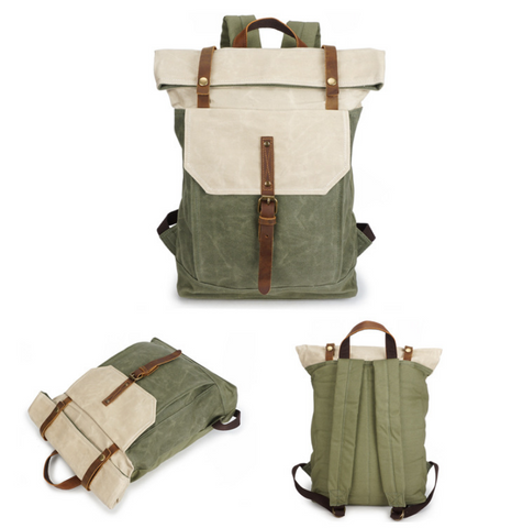 BRITISH DESIGN BETUCCI CANVAS LARGE CAPACITY BACKPACK