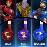 AVENGERS INFINITY WAR THANOS IRON MAN CAPTAIN AMERICA WIRELESS BLUE TOOTH STEREO HEADPHONE
