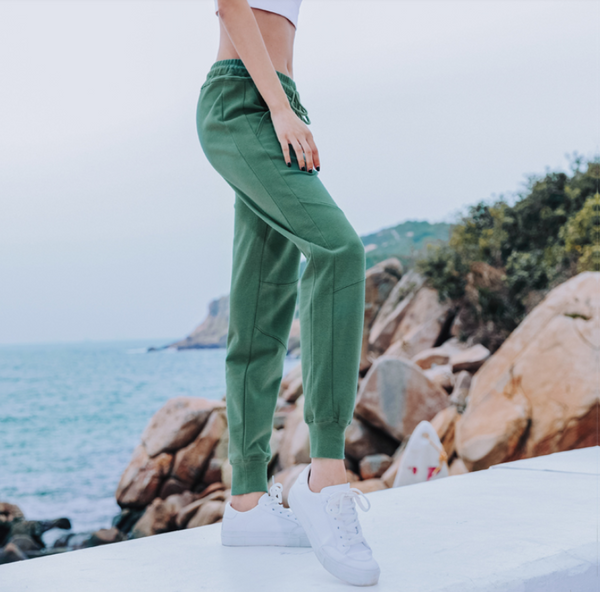NEVERME GREEN TRACK PANTS