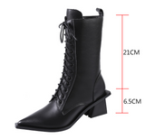 MAXCO NOTTE BRITISH STYLE CHELSEA LEATHER BOOTS WITH POINTED TOE - boopdo