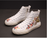 JHINOX SPACIT EMBROIDERED LIGHTWEIGHT CANVAS SNEAKER WITH JELLY SOLE - boopdo