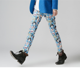 TOYOUTH EDITION CARTOON SKULL ALL OVER TROUSERS BLUE 8631902046 - boopdo