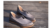ARTMU POINTED LOAFER FLAT SHOES IN VINTAGE GREY