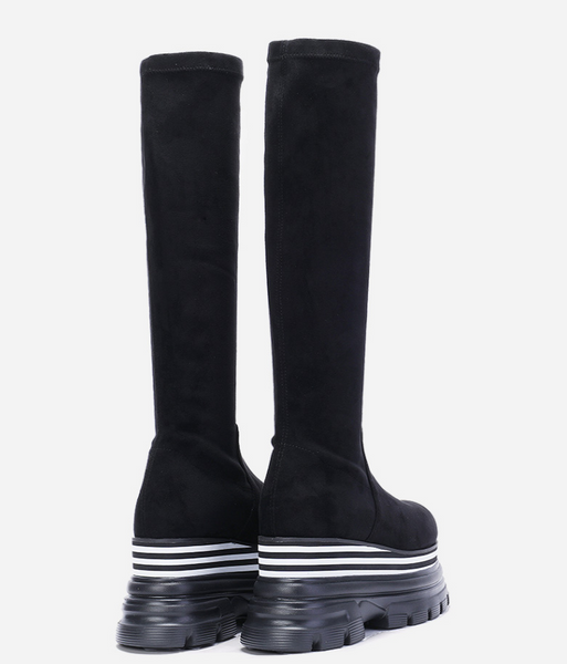FOXY CHIC KATE ZOZA CHUNKY PLATFORM KNEE HIGH BOOTS - boopdo