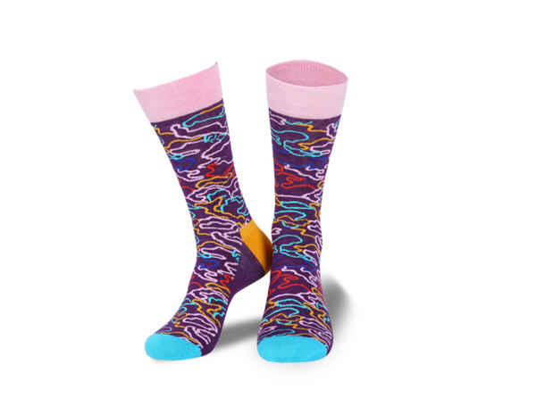 HEYNICE SPORT STYLE SOCKS WITH ALL OVER MULTI COLORED - boopdo