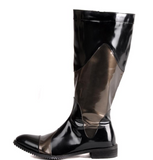 RODEO CAMPO POINTED TOE LEATHER COWBOY BOOTS - boopdo