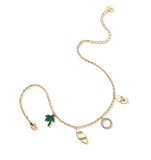 ZEGL HOLIDAY TIME TROPICAL FIGURE ANKLET - boopdo