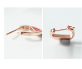 SILVER OF LIFE ROSE GOLD PLATED SMALL HOOP EARRINGS