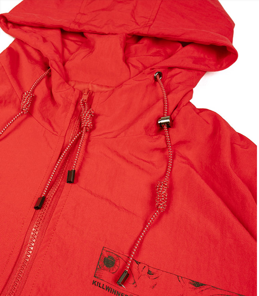 AVENTON KILLWINNER CARPE DIEM AKIRA WINDBREAKER JACKET IN RED - boopdo