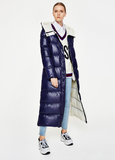 TOYOUTH GINGER NAVY COLORED LONGLINE DOWN FILLED COAT 8840912016