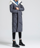 TOYOUTH LONGLINE DOWN FILLED COAT IN GREY BLACK 8630912005