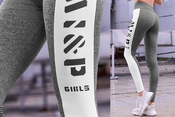 MIP LOGO TAPE LEGGINGS IN GREY