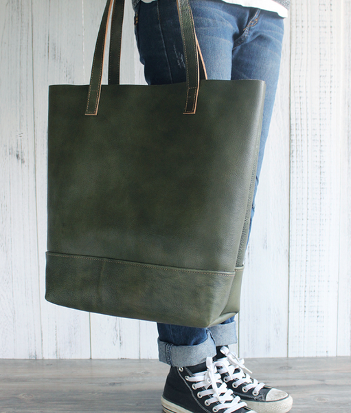 BOOPDO DESIGN LEATHER AND SUEDE TOTE BAG - boopdo