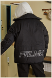 FRLMK COTTON GLOW IN THE DARK REFLECTIVE BLACK DOWN BOMBER JACKET