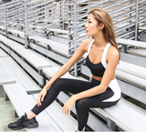 LANIKAR BLACK AND WHITE TRAINING LEGGING