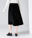 TOYOUTH MIDI PLEATED SKIRT WITH WAISTBAND