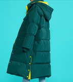 TOYOUTH OVERSIZED LONGLINE PUFFER COAT WITH SIDE DETAIL - boopdo
