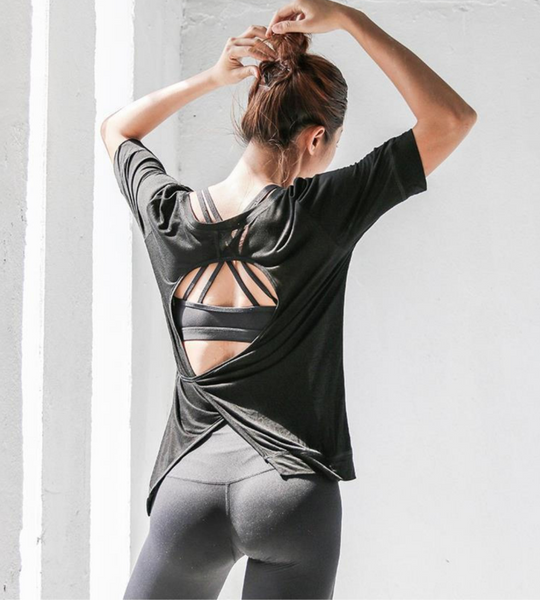 LANIKAR WRAP BACK GYM TOP - boopdo
