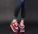 FOXY CHICK SHIRLEY RUTH CHUNKY PLATFORM SNEAKER IN RAINBOW - boopdo