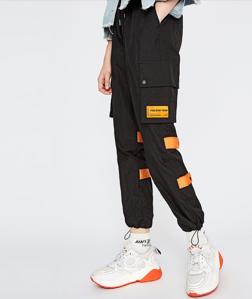 BOOPDO CARGO TROUSERS WITH SIDE POCKET   AND LOGO PRINT 8831902016 - boopdo