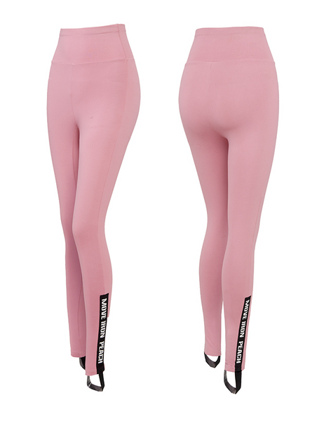 MIP TRAINING LEGGINGS WITH FOOT STRAPS IN POWDER PINK