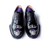 JINIWU VANGUARD CLASSIC NASHVILLE STYLE HANDMADE LEATHER SHOES IN BLACK - boopdo