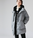 TOYOUTH HOODED CROPPED PUFFER JACKET WITH HOODIE DETAIL 8730912013