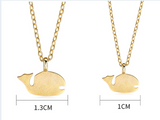 JELLY GIRL 18K GOLD WHALE PENDANT MOM AND ME 2 PACK NECKLACE - boopdo