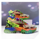 GIMMO FEWPO CHUNKY SOLE CASUAL WOMEN SNEAKER IN RAINBOW COLOR - boopdo
